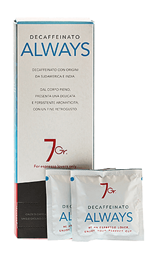 7Gr. Caffe Always Decaffeinato Pads 24 Stück