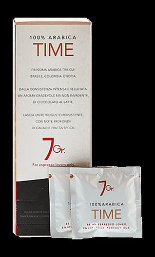 7Gr. Kaffee Espresso - Time 100% Arabica Pads 24 Stück