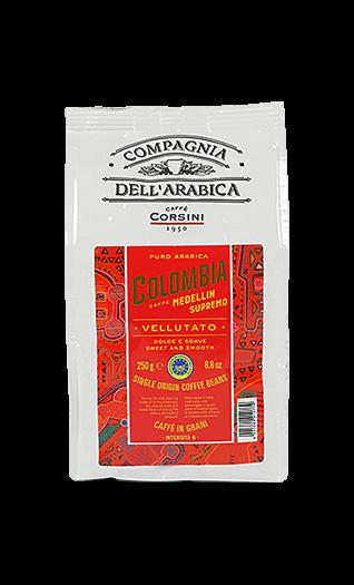 Caffe Corsini Kaffee Espresso - Colombia Medellin Bohnen 250g