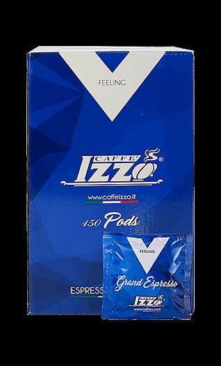 Izzo Kaffee Espresso - Napoletano Silver Pads 150 Stück