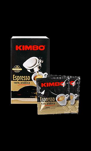 Kimbo Kaffee Espresso - 100% Arabica Pads 18 Stück