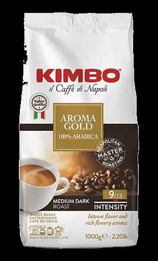 Kimbo Kaffee Espresso - Aroma Gold 100% Arabica Bohnen 1kg