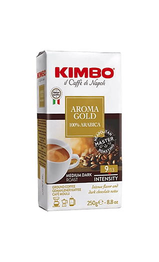Kimbo Kaffee Espresso - Aroma Gold 100% Arabica gemahlen 250g