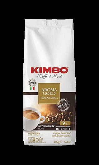 Kimbo Kaffee Espresso - Aroma Gold 100% Arabica Bohnen 500g