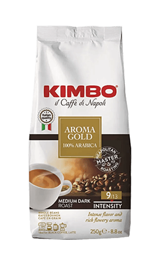 Kimbo Kaffee Espresso - Aroma Gold 100% Arabica Bohnen 250g