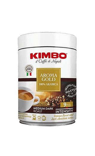 Kimbo Caffe Aroma Gold 100% Arabica gemahlen 250g Dose