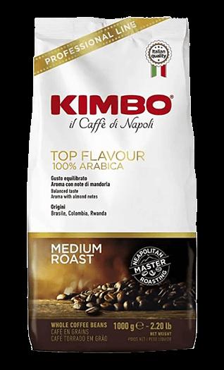 Kimbo Caffe Top Flavour Bohnen 1kg