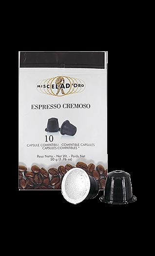 Miscela d'Oro Kaffee Espresso - Cremoso Kapseln 10 Stück