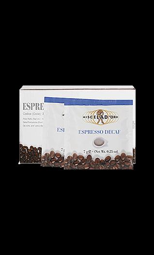 Miscela d'Oro Kaffee Espresso - Decaffeinato Pads 150 Stück