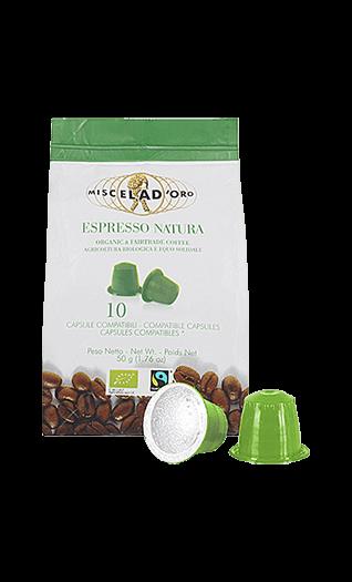 Miscela d'Oro Kaffee Espresso - Natura Kapseln 10 Stück