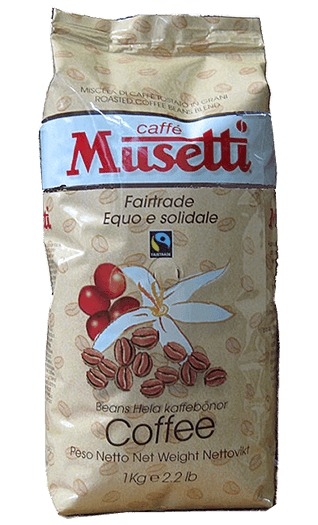 Musetti Caffe Fair Trade Bohnen 1kg