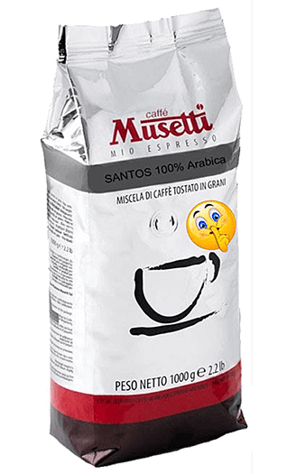 Musetti Kaffee Espresso - Santos Bohnen 1kg