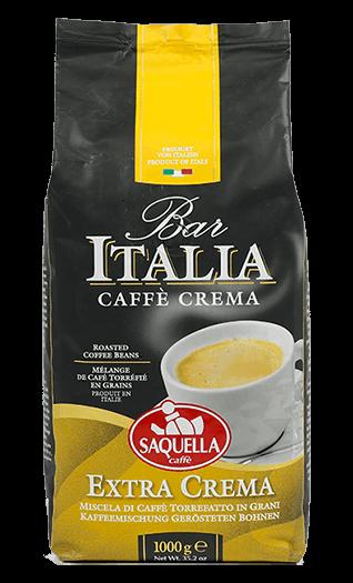 Saquella Caffe Bar Italia Extra Crema Bohnen 1kg