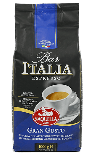 Saquella Kaffee Espresso - Bar Italia Gran Gusto Bohnen 1kg